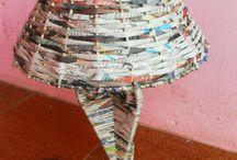 creaciones con papel periodico