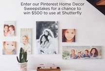 Shutterfly's Home Decor / by Kathryn Dowell
