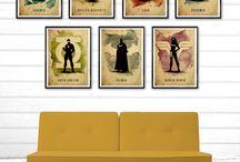 Justice League Minimalist Set Poster