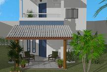 Fachadas residenciais / Ambientes desenhados pelo site www.seusonhodesenhado.com
