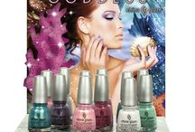 China Glaze- Sea Goddess / Discover the hidden treasures of the ocean this spring with China Glaze® Sea Goddess. Six vibrant matte and glistening glitters take you from the sandy, sunny shore to the depths of the sea where the mermaids play.  / by China Glaze