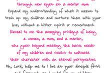 Parenting and Motherhood / Seeking God's wisdom through the journey of motherhood