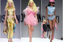 MOSCHINO Barbie in Milan / You either love it or you don't! There is no in between in the new Moschino BARBIE collection presented at this year's Fashion Week in Milan. No DRAMA-FREE in here: