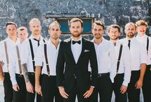 Groom / groomsmen suits & style / The groom and his groomsmen | Ushers | Groom Inspiration | Groom Suits | Groomsmen suits | Wedding men ideas