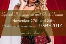 Special Thanksgiving & Black Friday / Go to / Allez à: http://curvynbeautiful.com/ **Happy Thanksgiving and Black Friday to all American Fans** November 27th and 28th 10% discount coupon name: TGBF2014 (valid for all our followers from all countries)