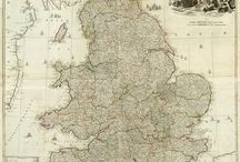 Maps of England, 1800s / from around the web