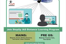 StepUp IAS DISTANCE LEARNING PROGRAM / All civil services aspirants who are not able to come to Delhi can JOIN StepUp IAS DISTANCE LEARNING PROGRAM  for main exams and pre GS both.  To know more visit: http://bit.ly/1n1UwCH                              OR  Call us at:09873102982