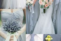 Dusty Blue & Periwinkle Blue Bridesmaids and Flower Girl Dresses