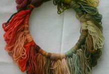 Natural dye, yarns & fabrics
