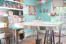 Craft Room Makeover / Inspiration for what I'd like to have in my craft room.