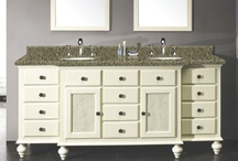 "Double Bathroom Vanities / #CabinetsToGo double bathroom vanities ranging from 59""-72"" to create a highly functional and beautiful bathroom space. www.cabinetstogo.com"