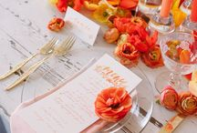 Orange Weddings / Combine orange with silver, white, grey or turquoise for a beautiful color combination for weddings. Here is some gorgeous orangewedding inspiration.