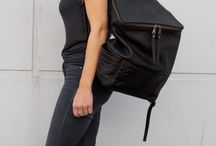 | B a c k p a c k s | / A casual chic backpack made of supple black leather in which you can effortlessly store all your everyday essentials. The zipper pocket at the backside has been especially added to easily secure your valuables. Comfort and luxury combined, created for your ultimate urban lifestyle.