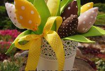 Тюльпаны из ткани