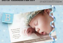 New Baby / Birth announcements, baptism invites, and thank you cards that are delivered in 3 days and backed by our 100% satisfaction guarantee. AND 10% of each order is given back to the school or nonprofit you designate.