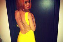 Herve Leger #yellow dress