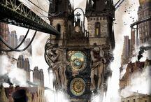 villes steampunk
