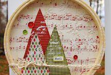 Christmas Hoop Art