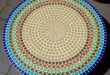 Mosaico em mesas