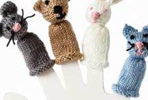 Knitted fingerfinger puppets