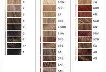 L'Oreal hair colour chart