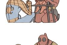 Spiderman and deadpool and everyone else