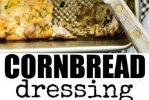 Dressing corn bread.