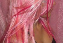 Rainbow colored hair love it