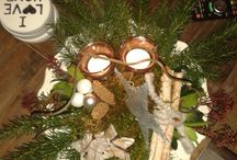 kerst/bloem stukjes en taarten
