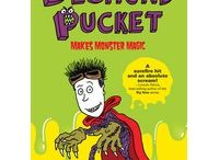 """Desmond Pucket Makes Monster Magic  / Halloween for Kids  Fizz Boom Read Summer Reading 2014 """"Diary of Wimpy Kid""""-esque middle grade illustrated novel  Lots of movie special effects magic / by Tracey Daniels"""