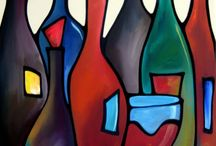 Painting bottles / Abstract