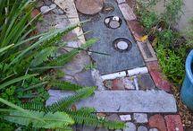 garden walk, steps ...