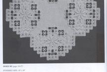 Ronde kleedjes / hardanger borduren