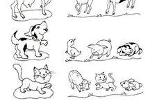 Domáce a hospodárske zvieratá /zvieratá a ich mláďatá/