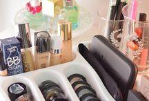 Ideias para guardar maquiagem