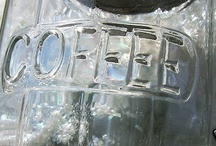HOOSIER GLASS COFFEE CANISTER EXCELLENT-CA.1900
