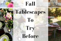 Project Design-Fall Tablescapes