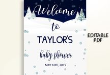 Baby Shower Products in Winter Theme, Invitations, Games, Decorations And More / Hi, thank you for visiting this beautiful baby shower board with products in Winter theme. Here, you'll find invitations, games and activities, decorations and more with over 60 products in this theme.