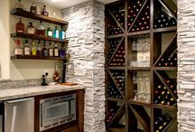 wine rack wall / for kitchen extension
