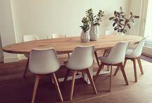 Ovale houten tafel