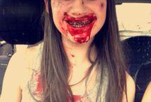 Maquillage zombie / Moi en zombie
