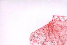 Lisa Solomon / Watercolor, acrylic and thread/embroidery on Duralar
