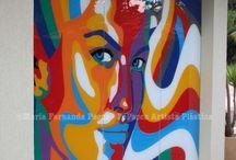 FePacca Artista Plástica - Painel Colorido / Obra de Arte de FePacca Artista Plástica