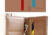 DIY leather wallets