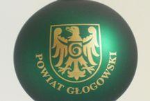 bombki z herbem / Oferujemy szeroką kolorów i rozmiarów bombek z herbami rodowymi, miast i gmin