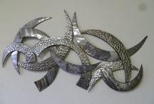 wanddekoration abstrakt metall / abstract metall Wanddekoration für Wohnzimmer