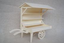 Cakes cart miniature