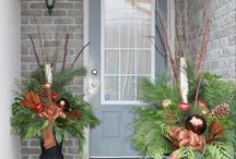 Winter planters, urns and arrangements
