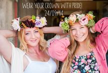 National Flower Crown Day / National Flower Crown Day 24th September. Invented by Blue Sky Flowers.