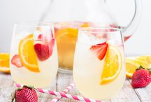 Sangria, champagne ,Punch, flavoured waters